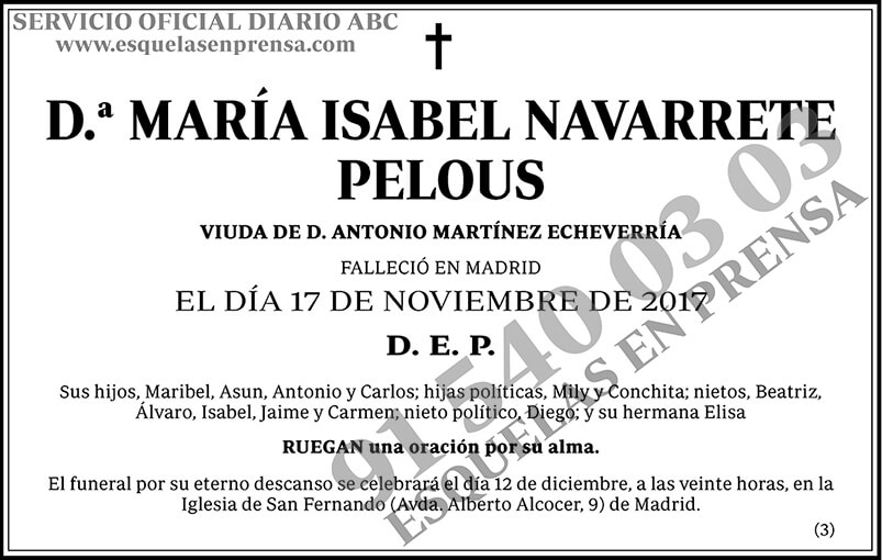 María Isabel Navarrete Pelous